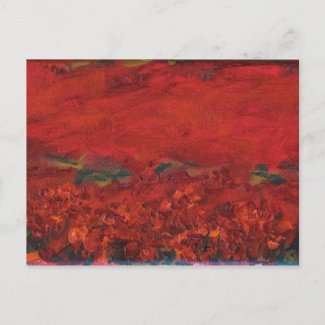 the Poppy Field postcard