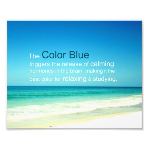 The relaxing calming color blue of sea sky photo print - Is blue a calming color ...