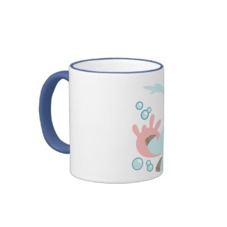 The Sea Cow and Fish Friends Mug mug
