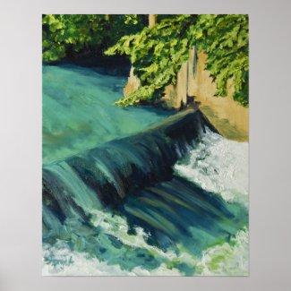 the Sorgue River at Fontaine de Vaucluse print