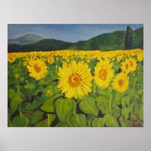 The Sunflower Field print