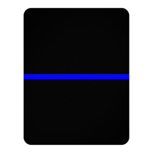 The Symbolic Thin Blue Line on Solid Black Card | Zazzle