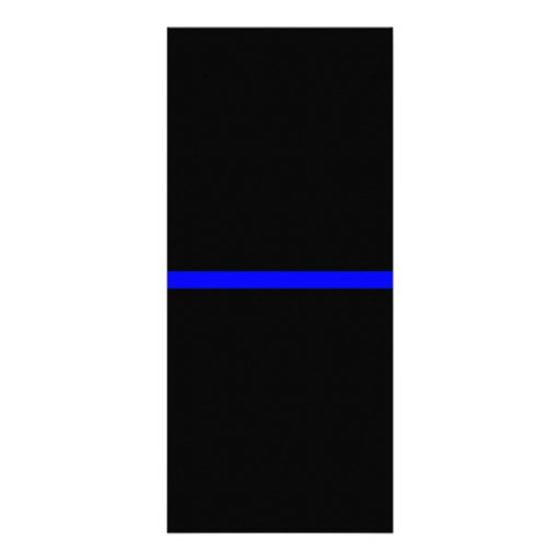 The Symbolic Thin Blue Line on Solid Black Rack Card | Zazzle