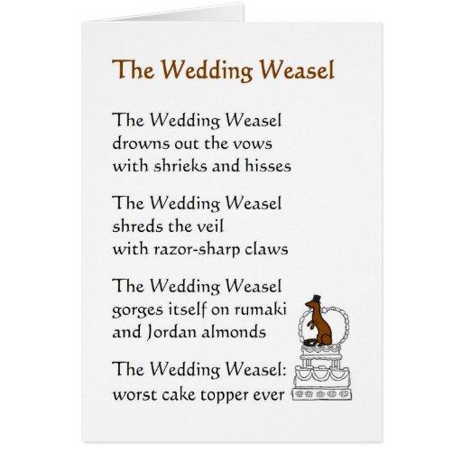 The Wedding Weasel - A Funny Wedding Poem Card