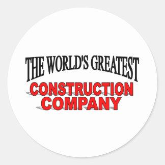 Construction Company Stickers Zazzle