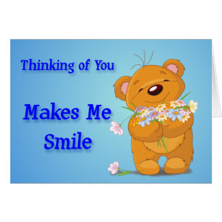 Thinking Of You Makes Me Smile Cards, Thinking Of You ...
