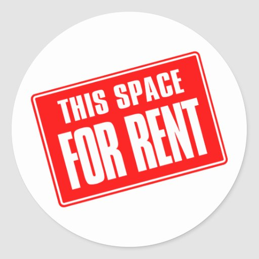 Www For Rent: This Space For Rent Classic Round Sticker