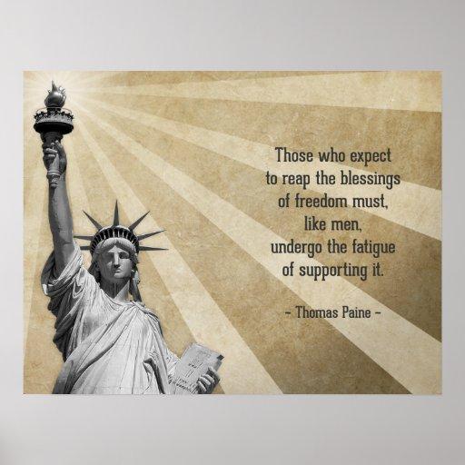 Thomas Paine Quotes: Thomas Paine Quote Poster