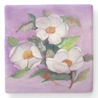 Three Magnolias Stone Beverage Coaster