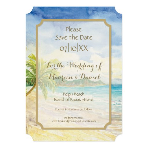 Save The Date Destination Wedding Invitations: Ticket Style Save The Date Destination Wedding 5x7 Paper