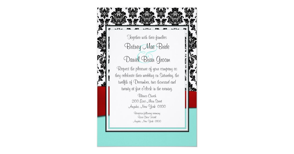 Tiffany Blue And Red Wedding Invitations: Tiffany Blue And Red Wedding Invitations
