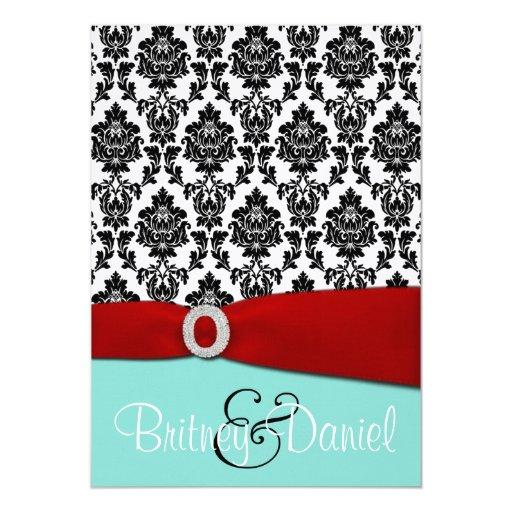 Tiffany Wedding Invitations: Tiffany Blue And Red Wedding Invitations