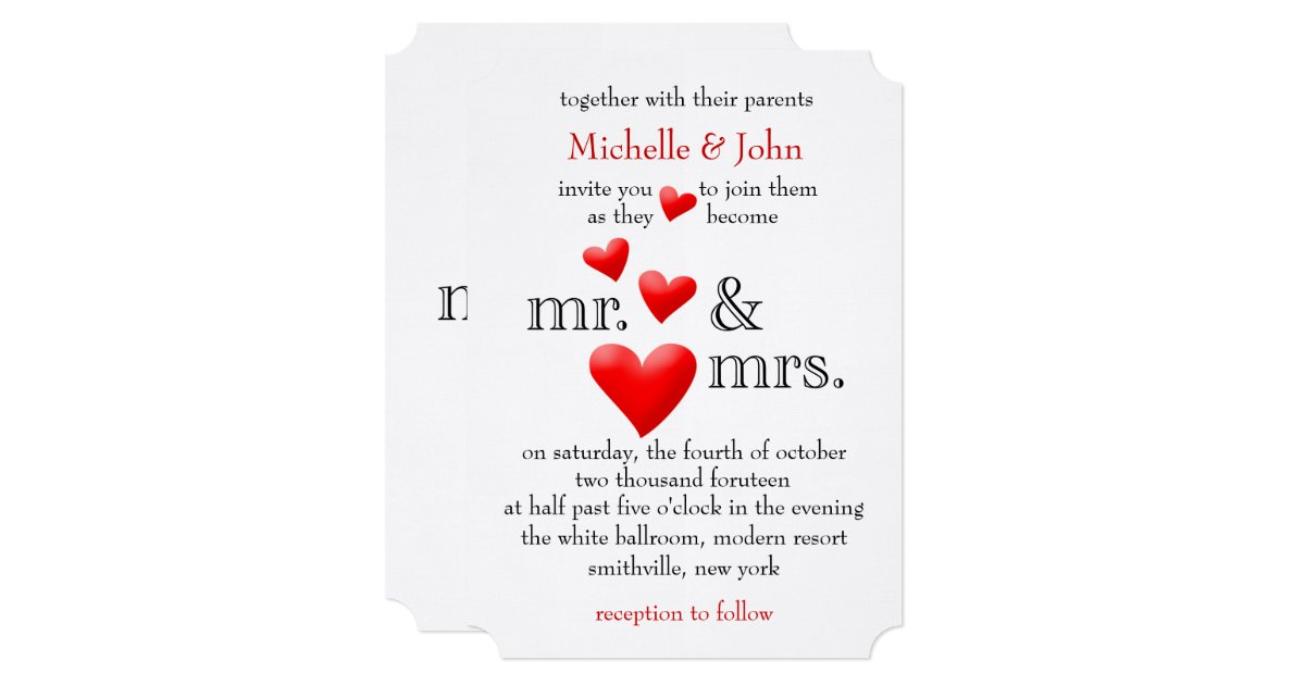Mr And Mrs Wedding Invitation Wording: To Be Mr & Mrs Wedding Invitation