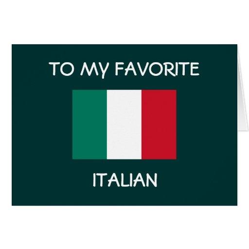 """TO MY FAVORITE ITALIAN"" HAPPY BIRTHDAY CARDS"