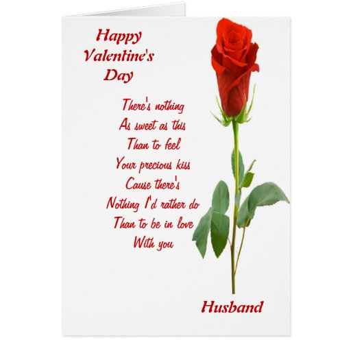 to my husband on valentine's day greeting card  zazzle