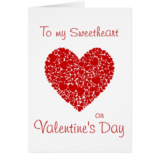 to my sweetheart on valentine's dayheart romantic card