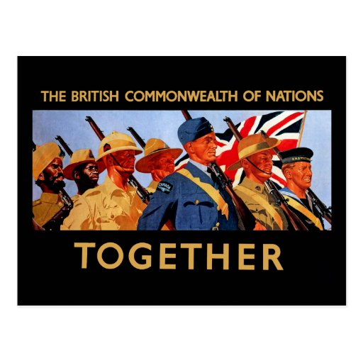 together the british commonwealth of nations postcard zazzle. Black Bedroom Furniture Sets. Home Design Ideas