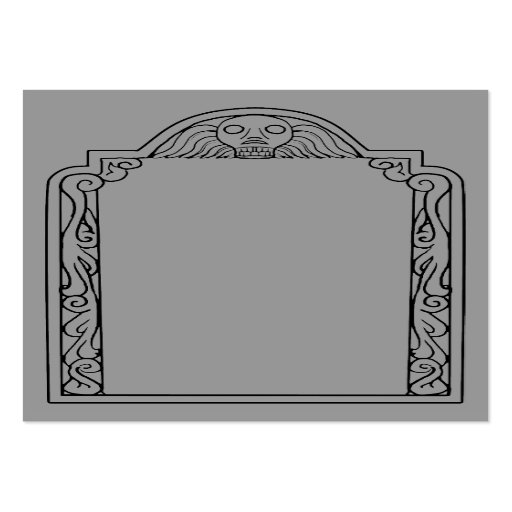 Tombstone large business cards pack of 100 zazzle for Tombstone templates for halloween