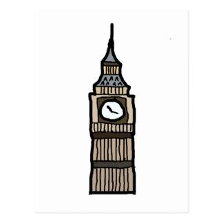 Cartoon Big Ben Postcards | Zazzle
