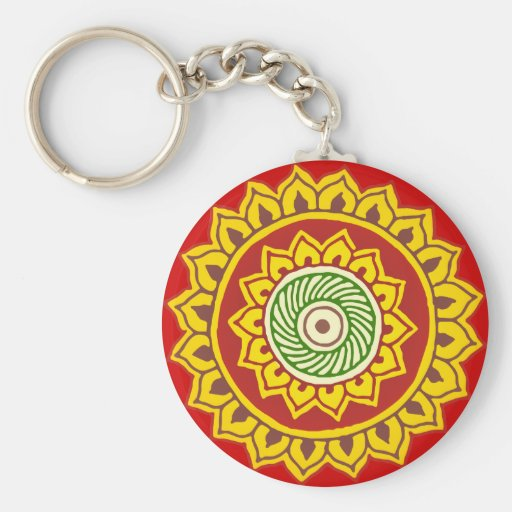 Traditional Indian Style Interior Design: Traditional Indian Style Mandana Keychain