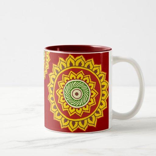 Traditional Indian Style Interior Design: Traditional Indian Style Mandana Two-Tone Coffee Mug