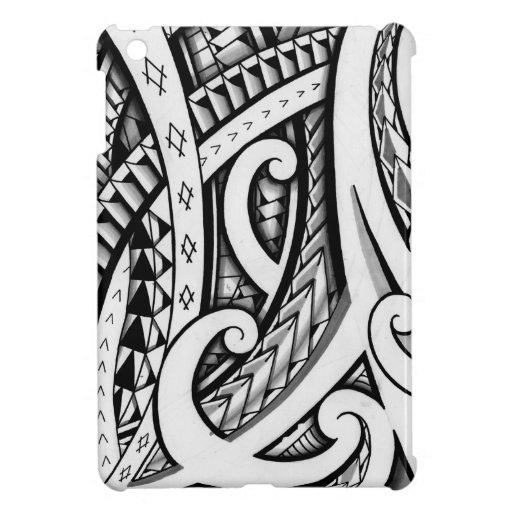 Traditional Maori Style Tattoo Design IPad Mini Covers