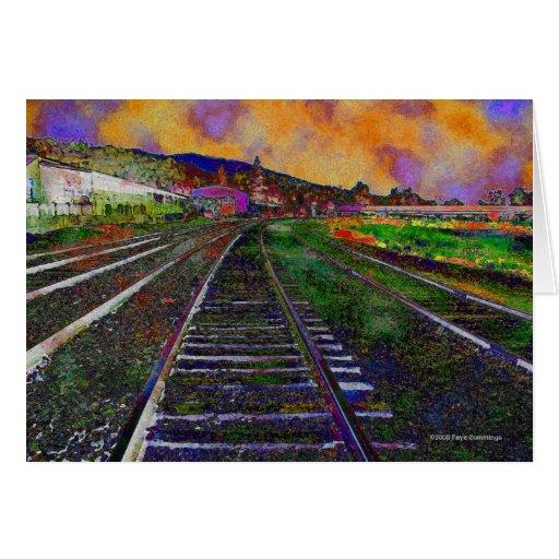 train tracks and orange1 - photo #6