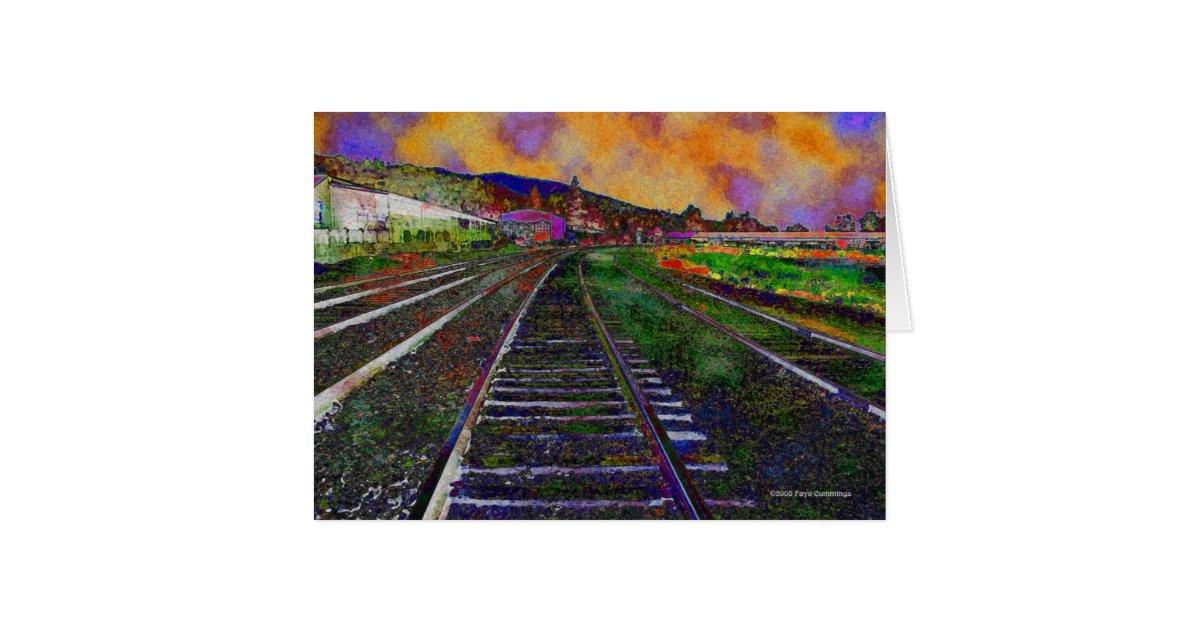train tracks and orange1 - photo #19