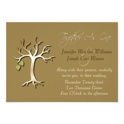 Tree Of Life Invitation Rsvp Celtic Life By: Tree Of Life Elegant Fall Wedding Invitation