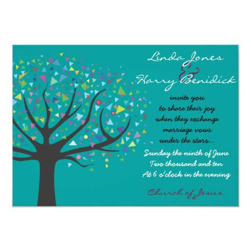 Tree Of Life Invitation Rsvp Celtic Life By: Tree Of Life Wedding Invitation Engagement Teal