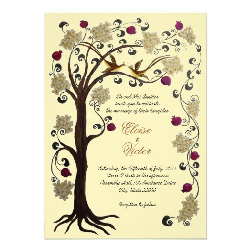 Tree Of Life Invitation Rsvp Celtic Life By: Printable Invatation To Convalidation Of Vows