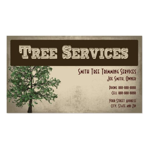Tree Service Business Card Templates Bizcardstudio