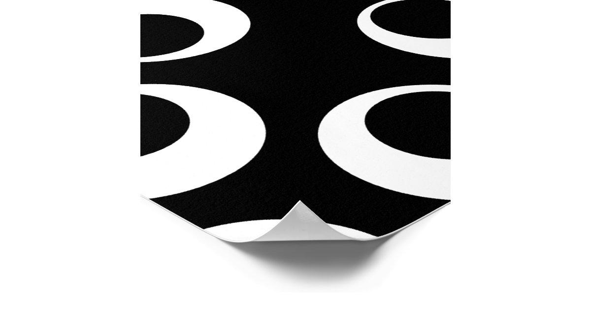 Trendy Poster Designs: Trendy Black And White Retro Design. Poster