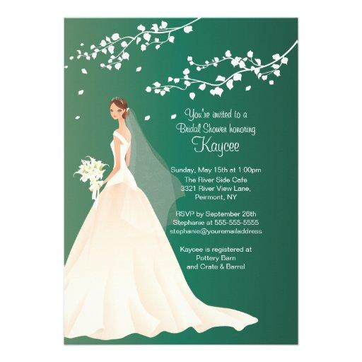 Personalized Emerald Green Wedding Invitations