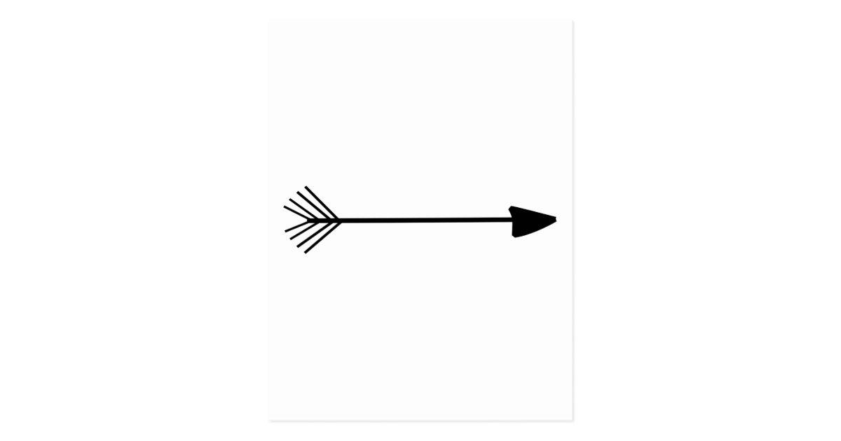 Tribal Arrow Art Single Black Arrow Custom Color Postcard ...