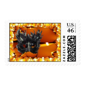 Trick or Treat Gothic Mask Postage stamp