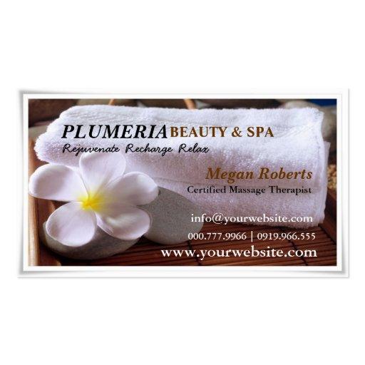 Spa Skin Care: Tropic White Plumeria Spa Skin Care Massage Salon Double