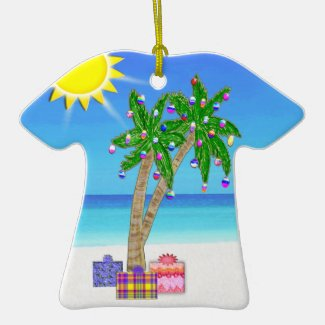 Tropical Christmas Ornament T Shirt Style Ornament