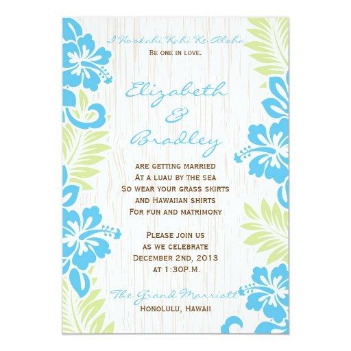 Wedding Invitations Hawaii: Tropical Hawaiian Wedding Invitation Turquoise