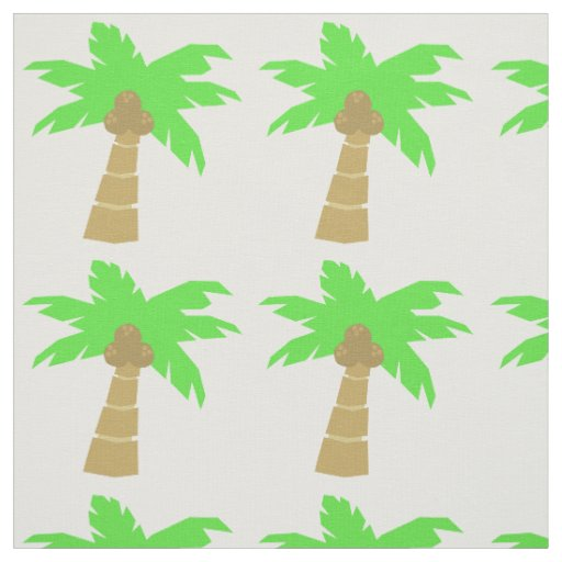 Tropical Palm Tree Pattern Fun Island Beach Theme Fabric ...