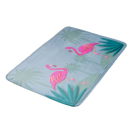 Tropical Pink Flamingo Bathroom Rug Mat Home Decor Bath