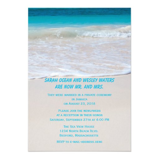 Personalized Water Themed Wedding Invitations