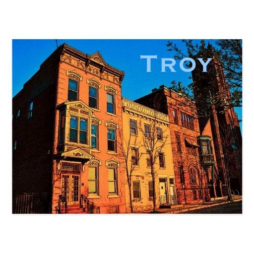 vintage postcard troy ny jpg 422x640