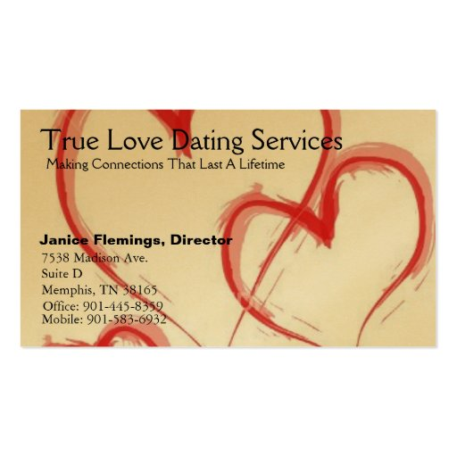Business cards for dating
