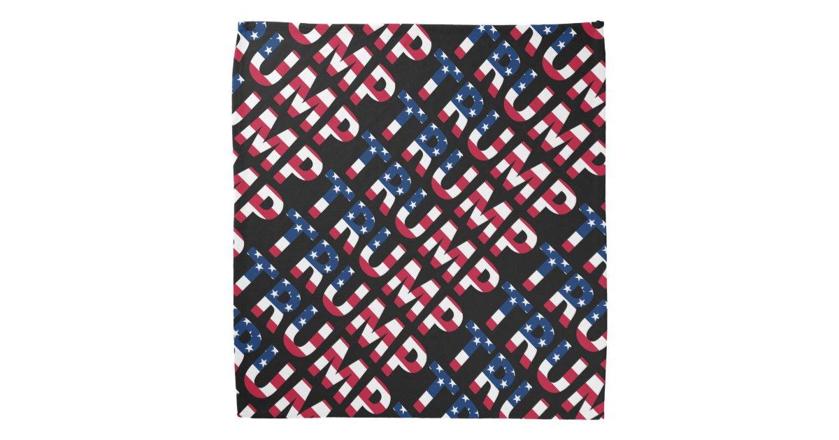Trump 2016 American Flag Bandana Zazzle