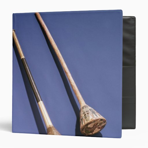 Trumpet And Wooden Stopper 3 Ring Binder
