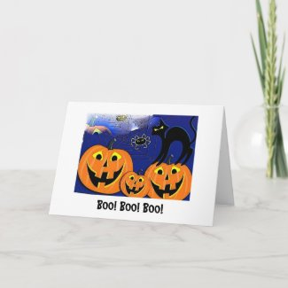 Try to be scary halloween card card