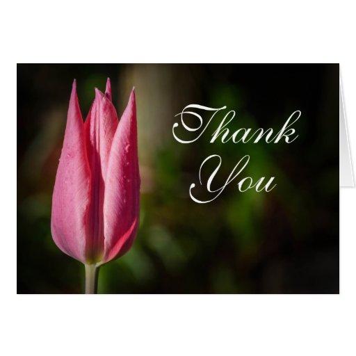 Tulip Flower Thank You Card | Zazzle