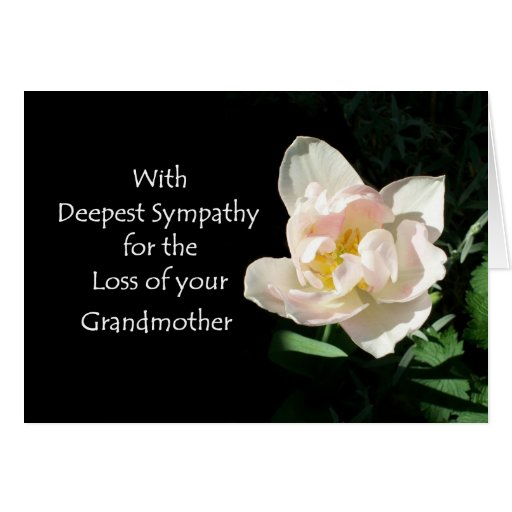 Tulip Sympathy Card - Loss of a Grandmother | Zazzle