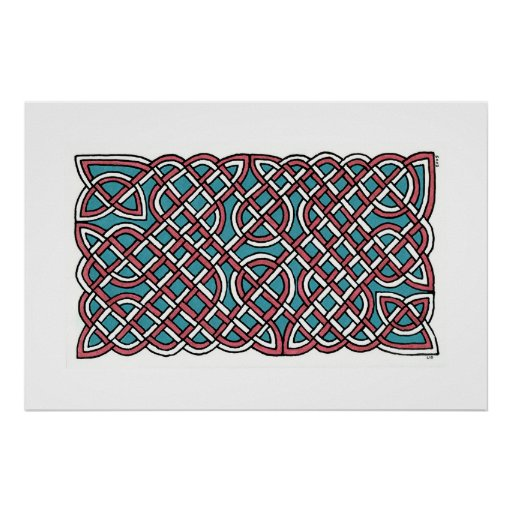 Turkish Delight Knot (horizontal) Poster